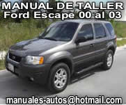 Ford Escape 2000 al 2003 Manual De Reparacion y Taller
